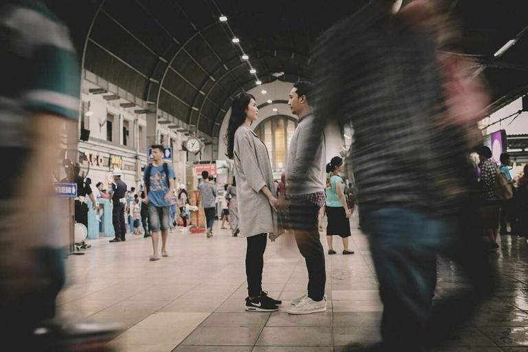 prewedding-di-stasiun-kota