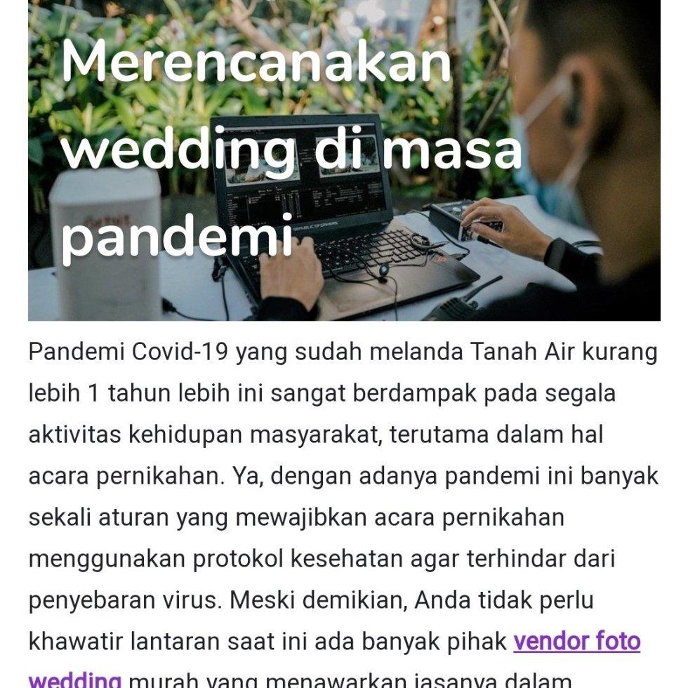 Merencanakan wedding di masa pandemi